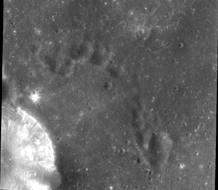 Imagen de la Luna tomada desde la sonda Chandrayaan.